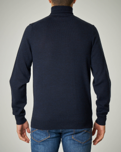 Maglia blu in lana