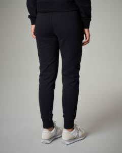 Pantaloni tuta neri in cotone