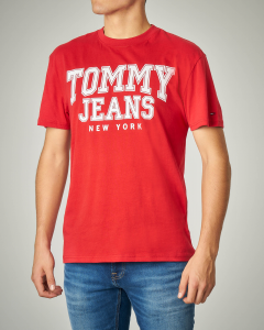 T-shirt rossa  girocollo