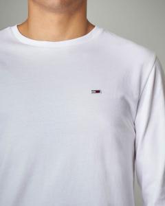 T-shirt bianca manica lunga