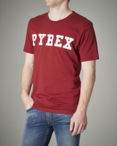T-shirt bordeaux logata