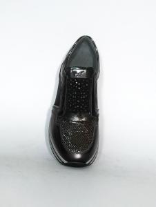 Sneaker piombo con fascia strassata Nero Giardini