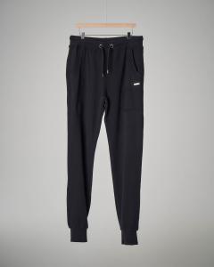 Pantalone nero in felpa con coulisse S-XXL