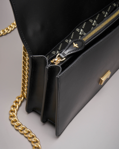 Love Bag: tracolla nera in vera pelle