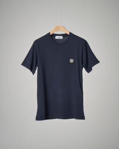 T-shirt blu girocollo