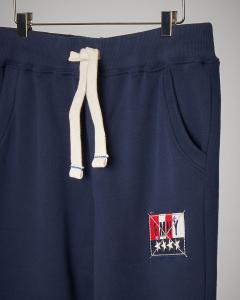 Pantalone blu in felpa con coulisse XS-XXL