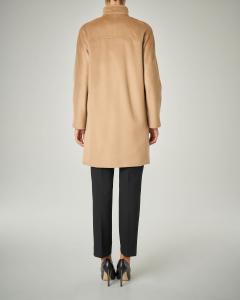 Cappotto cammello in pura lana