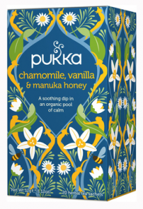 Pukka - chamomile herbal tea, vanilla and Manuka honey