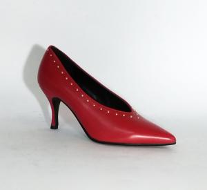 Decollete rosso con scollo a V Vi e Vi Milano
