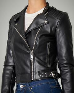 Giacca nero modello biker