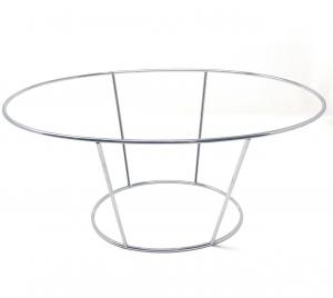 Supporto Ovale in acciaio inox per Vassoio Frutti di mare cm.38x26x17h diam.0