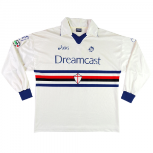 1999-00 Sampdoria Maglia Away #2 Match worn XL