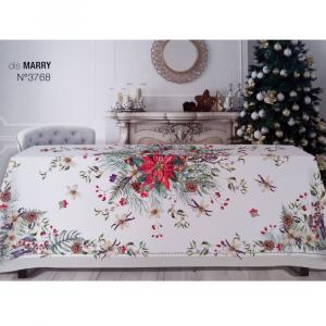 Tovaglia natalizia rettangolare 10/12 persone 175x285 cm TAG HOUSE - Marry