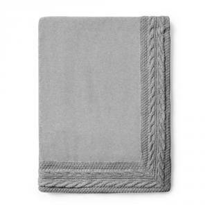 Plaid in pile 130x160 cm MaryPlaid Intrecci grigio idea regalo originale