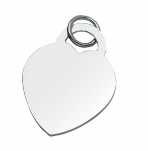 Charms pendente cuore cm.3,5x3x0,1h