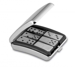 Domino evolution Lamborghini in silver plated cm.6x7x3h