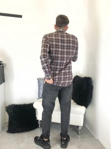 Jeans uomo grigio a sigaretta modello stile levis stretto al fondocon catena TG 42/44/46/48/50/52