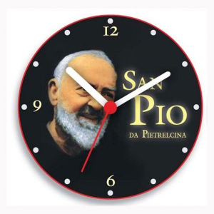 Orologio padre pio da parete e da tavolo cm.8,5x8,5x5h