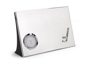 Orologio da tavolo Golf silver plated cm.18x12x4,7h