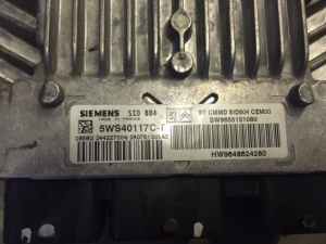 ECU Centralina motore CITROEN PEUGEOT SIEMENS 5WS40117C-T, 5WS40117CT, SW 9655151080, HW 9648624280, SID804