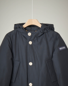 Parka detachable fur blu navy 8-16 anni