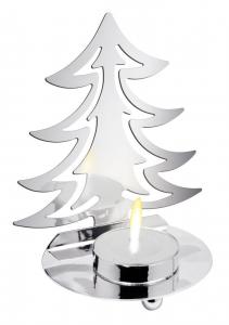 Portacandela Albero di Natale cm.7x10,5x13h diam.8,5