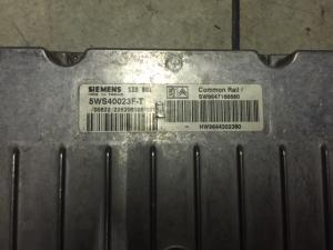 ECU CENTRALINA MOTORE CITROEN C5 2.0 HDI SIEMENS 5WS40023F-T, 5WS40023FT, SW 9647166880, HW 9644302380 SID801