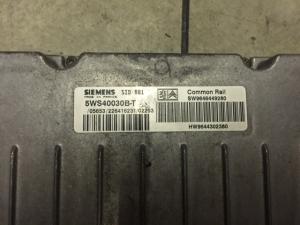 ECU Centralina motore CITROEN PEUGEOT SIEMENS 5WS40030B-T, 5WS40030BT, SW 9646449280, HW 9644302380, SID801