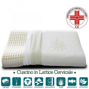 Cuscino Lattice Cervicale con tessuto Aloe Vera