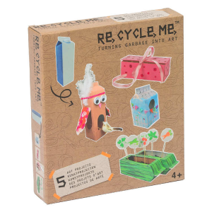 Latte di cartone Set Gioco Ecologico per Bambina Re-Cycle-Me