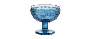 Coppa Gelato Blu in Vetro 29cl Set di 6 pezzi cm.10,5h diam.11,5