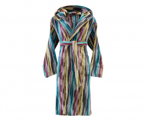 Missoni Home Bathrobe with hood multicolor striped JEFF 170 - M