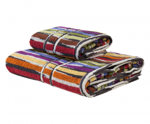 Set Asciugamani Missoni 1 asciugamano + 1 ospite JEFF 156  multicolore