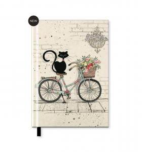 Agendina in formato A5 con un Gattino sulla bici o su un cuscino (Nba5h019)