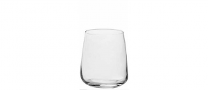 Bicchiere Acqua in Vetro Cristallino 36cl Set 4 pezzi cm.9,5h diam.6,5
