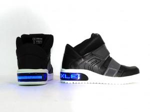 Sneaker mid nera Xled Geox