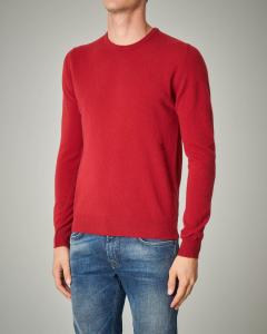 Maglia rossa girocollo in lana
