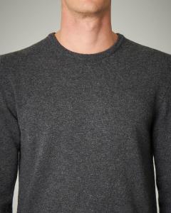 Maglia grigio scuro girocollo in lana