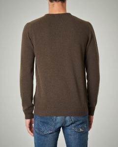 Maglia marrone girocollo in lana