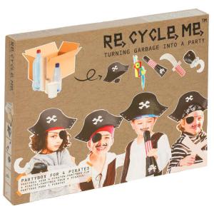 Kit 4 Costumi da pirata Set Gioco Ecologico per Bambina Re-Cycle-Me