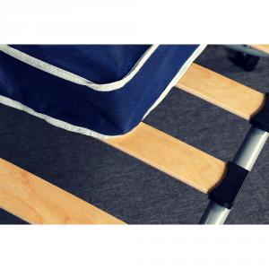 Brandina Pieghevole con Materasso Singolo 80x190 alto 10 cm in Waterfoam + Cuscino Memory Foam GRATIS, Rivestimento Anallergico, Rete Singola a Doghe in Legno Naturale, con Ammortizzatori, 4 Ruote ANTIGRAFFIO Smontabili