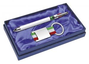 Set penna e Portachiavi Italia cm.16,5x9,5x2,5h