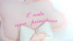 """Nuvola nascita celeste in cotone """"E' nata una principessa"""