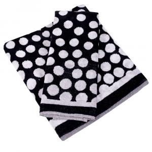 Coppia di asciugamani in spugna Carrara REIMS bianco e nero