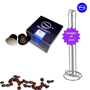 150 capsule compatibili nespresso omaggio porta capsule 20 posti