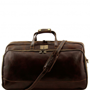 Tuscany Leather TL3067 Bora Bora - Sac à roulettes- Grand modèle Marron foncé