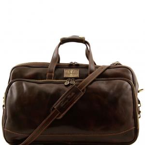 Tuscany Leather TL3065 Bora Bora - Borsa-Trolley in pelle - Misura piccola Testa di Moro