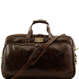 Tuscany Leather TL3065 Bora Bora - Trolley leather bag - Small size Dark Brown