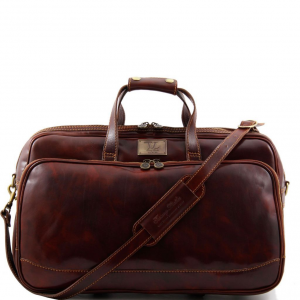 Tuscany Leather TL3065 Bora Bora - Trolley leather bag - Small size Brown