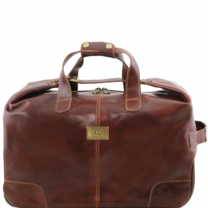 Tuscany Leather TL141537 Barbados - Trolley leather bag Brown